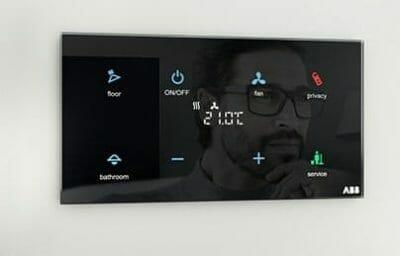 control domotica cristal negro tactil
